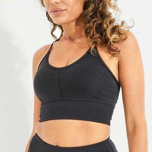 Sport-BH Yoga Wonder Luxe Ellis Crop Black Dharma Bums