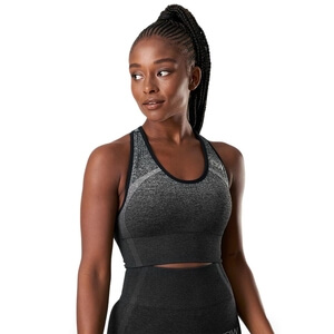 Ombre Seamless Sports Bra, graphite melange, ICANIWILL
