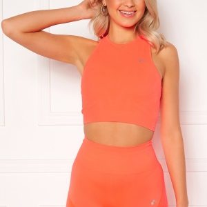 ONLY PLAY Jase Circular Cropped Top Fiery Coral M