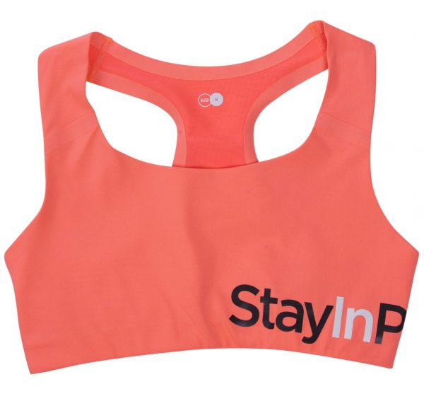 Active Sports Bra A/, Fusion Coral, Xs, Stay In Place