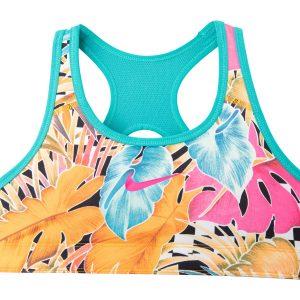 Nike Pro Classic Girls' Revers, Orange Peel/Cabana/Laser Fuchs, M, Nike