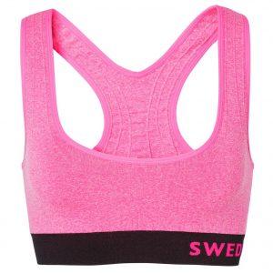Seamless Top, Fresh Pink Melange/Black, M/L, Underställ