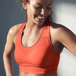 Sports Bra Mid-High, Orange Energy
