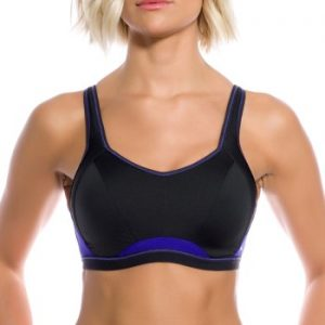 Freya BH Epic Underwire Crop Top Sports Bra Lila/Svart E 65 Dam