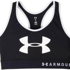 Armour Mid Keyhole Graphic, Black, Xs, Under Armour