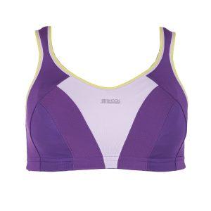 Max Sports Bra, Purple / Lime, 85f, Shock Arbsober