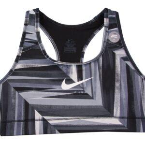 Nk Vcty Cmprsn Mnlth Chped Bra, Black/Cool Grey/White, M, Nike