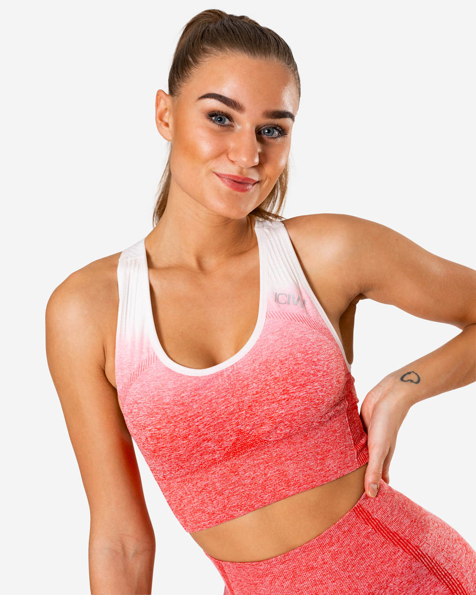 Ombre Seamless Sports Bra Red – XS