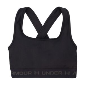 Ua Crossback Mid Bra, Black, S/M, Under Armour